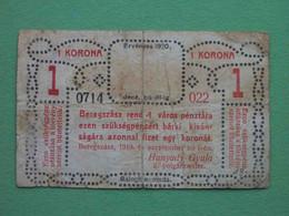 Ukraine, Beregovo 1920 1 Krone. RARE Paper Money. Local Issue. - Ucraina