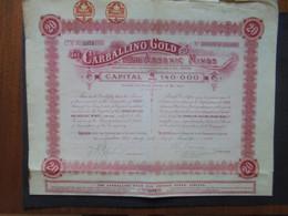 ESPAGNE - LONDRES 1906 - THE CARBALLINO FOLD & ARSENIC MINES - TITRE DE 20 ACTIONS DE 1.£ - Hist. Wertpapiere - Nonvaleurs