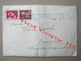 Croatia, NDH, WW2 / Big Envelope With Letter, Content - CENZURA BR. 23 ( 194? ) - Croatia