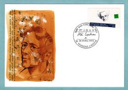 Carte Maximum 1993 - écrivains Célèbres - Jean Cocteau - YT 2801 - 78 Maisons Lafitte - 1990-99