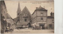 CPA  86  SAINT LEGER DE MONTBRILLAIS  PLACE DE L EGLISE - Andere Gemeenten