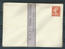 France Enveloppe Entier Postal YT N°138-E6 Semeuse Fond Plein (Lot De 10 Enveloppes Entourées Par Une Bande) Neuf ** - Standaardpostkaarten En TSC (Voor 1995)