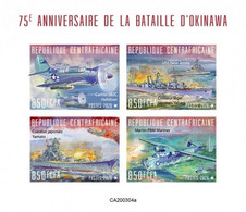 Centrafrica 2020, WWII, Battle Of Okinawa, BF IMPERFORATED - Centrafricaine (République)