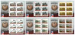 ISLE OF MAN 2016 Battle Of The Somme: Set Of 6 Sheetlets UM/MNH - Man (Ile De)