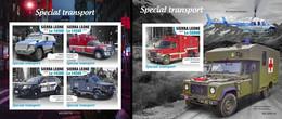 Sierra Leone 2020, Special Transport, Police, Firemen, 4val In BF +BF IMPERFORATED - Politie En Rijkswacht