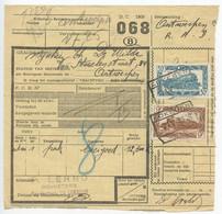 Belgium 1953 Parcel Post Card Lokeben To Antwerpen, Scott Q319 & Q322 Locomotives - Railway