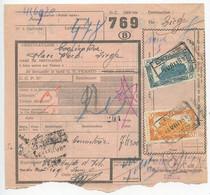 Belgium 1955 Parcel Post Card Leuze To Liege, Scott Q318 & Q321 Locomotives - Railway