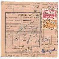 Belgium 1953 Parcel Post Card Malderen To Brussel, Scott Q311 & Q321 Locomotives - Railway