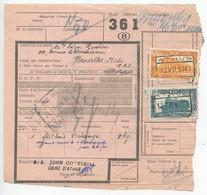 Belgium 1953 Parcel Post Card Athus To Bruxelles, Scott Q318 & Q321 Locomotives - Railway