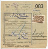 Belgium 1953 Parcel Post Card De Panne To Tournai, Scott Q333 - Railway
