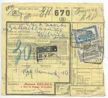 Belgium 1953 Parcel Post Card Bruxelles To Anvers, Scott Q314 & Q322 Locomotives - Railway