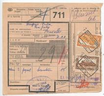 Belgium 1953 Parcel Post Card Oudenarde To Bruxelles, Scott Q319 & Q321 Locomotives - Railway