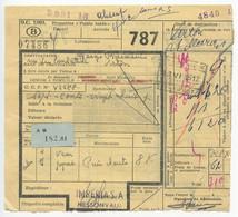 Belgium 1956 Parcel Post Card Nessonvaux To Virton-St-Mard, Scott Q312 & Q359 - Railway