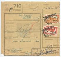 Belgium 1953 Parcel Post Card Charleroi To Antwerpen, Scott Q315 & Q321 Locomotives - Railway