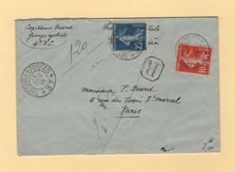 Type Semeuse - Tresor Et Postes 37 - Recommande - 11 Dec 1914 - 1877-1920: Semi-moderne Periode