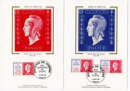 Carte Maximum 1994 - Journée Du Timbre 1994 - Marianne De Dulac - YT 2863 Et 2864 - Paris - 1990-99