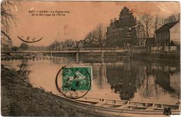 6AN 838. CAEN - LA PASSERELLE ET LE BARRAGE D' ORNE - Caen