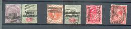 A 298 - BECHUALAND - YT 31-32 / Protectorat - YT 15-18-24-40 ° Obli - 1885-1895 Kronenkolonie