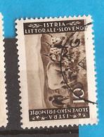 26.SLOV-  1945  ISTRA SLOVENIA  ITALIA JUGOSLAVIA  AGRARIA   PERF 10 1-2-- 11 1-2  USED - Slovenia