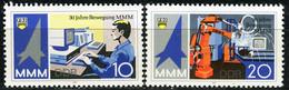 DDR - Mi 3132 / 3133 - ** Postfrisch (E) - 10-20Pf     30 Jahre Messe Der Meister Von Morgen - Neufs