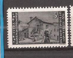 26.SLOV-  1945  ISTRA SLOVENIA  ITALIA JUGOSLAVIA  AGRARIA   PERF 10 1-2-- 11 1-2  MNH - Slovenia