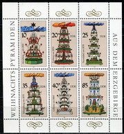 DDR - Mi 3134 / 3139 Klb - ** Postfrisch - Weihnachtspyramiden Aus Dem Erzgebirge - Neufs