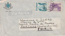 PEROU AFFRANCHISSEMENT COMPOSE SUR LETTRE POUR LA FRANCE - Peru