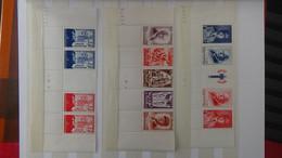 G212 Belle Collection De France Dont Bandes, Carnets Croix Rouge Et Timbres Années 40 ... Tout **  . A Saisir  !! - Collections (en Albums)