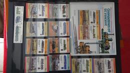 G214 Belle Collection Timbres Et Blocs ** Dont Belle Thématique Sur Les Trains . A Saisir  !! - Collections (en Albums)