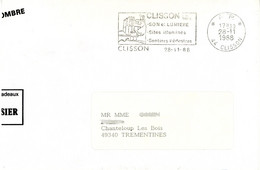 P. P. 44 CLISSON  (Loire-Atlantique) 1988 SON ET LUMIERE ... Port Payé - Mechanische Stempels (reclame)