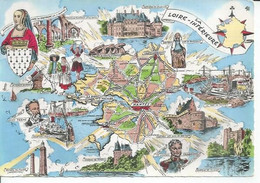 LA LOIRE-INFERIEURE - St-NAZAIRE / REDON / BLAIN / ANCENIS / VERTOU / PORNIC / MINDIN  ( Déssin: HOMUALK ) - Homualk