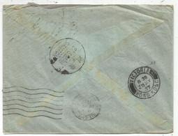 FRANCE PAIX 1FR50 BLEUX3+50CX2 1 DEFECTUEUX LETTRE COVER AVION BIARRITZ 17.5.1937 TO HONG KONG VIA CHINA CANTON - 1932-39 Peace