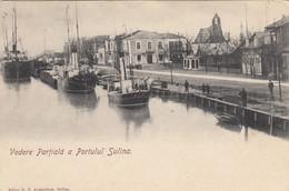 Sulina  1904 --  Port , Tulcea , Dobruja , Donau , Dunarea , Hafen  , Schiff , Boat , Bateau - Roemenië