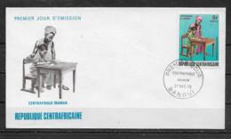 CENTRAFRICAINE  Enveloppe FDC  27 Déc. 72 Yvert   N° 185 Centrafrique Maman - Centrafricaine (République)