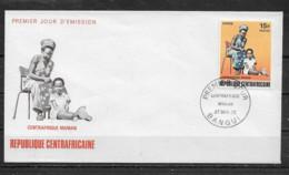 CENTRAFRICAINE  Enveloppe FDC  27 Déc. 72 Yvert   N° 187 Centrafrique Maman - Centrafricaine (République)
