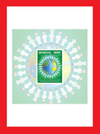 SENEGAL 2020 SOUV. SHEET DELUXE PROOF - JOINT ISSUE - STRUGGLE AGAINST COVID-19 PANDEMIC PANDEMIE CORONA CORONAVIRUS MNH - Senegal (1960-...)