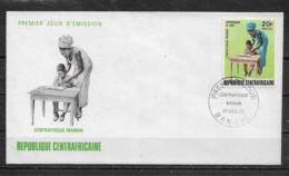 CENTRAFRICAINE  Enveloppe FDC  27 Déc. 72 Yvert   N° 188 Centrafrique Maman - Centrafricaine (République)