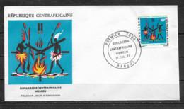 CENTRAFRICAINE  Enveloppe FDC  31 Juilet 72  Yvert   N° 178  Horlogerie Centrafricaine - Centrafricaine (République)