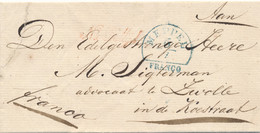 Nederland - Omslag - Na Posttijd - Van HRF-A MEPPEL Naar Zwolle - ...-1852 Precursores