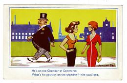 Ref 1414 - 1959 Comic Postcard - Chamber Of Commerce - Nice GB Graphite Stamp - Comicfiguren