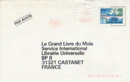 FINLANDE SEUL SUR LETTRE POUR LA FRANCE 1989 - Lettres & Documents