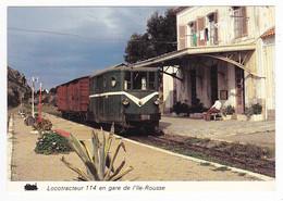 Haute Corse ILE ROUSSE Vers Calvi Train Locotracteur 114 Wagon Couvert En Gare En Août 1979 VOIR DOS - Calvi