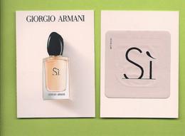 NEU  ** GIORGIO ARMANI * SI * CARD  *  5,5x 7,5 Cm  GLACE + PATCH * V/R - Modern (vanaf 1961)