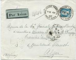 LETTRE PAR AVION POUR L'ALGERIE 1932 AVEC TIMBRE A 1 FR 50 AU TYPE PASTEUR - 1921-1960: Periodo Moderno