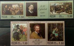 Russia, 1998, Mi. 639-42, Y&T 6325-28, Sc. 6434-37, SG 6741-44, Surikov, Vasnetsov, A Painters, MNH - Other