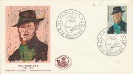 BELGIQUE FDC 1966 RIK WOUTERS - 1961-70