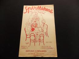Partition Spiritisme Ou Avec La Pompadour Fox Trot Humoristique Illustrateur Wurth 35 - Music & Instruments