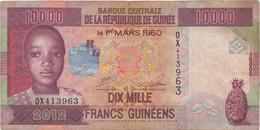 Guinée : 10000 Francs 2012 (moyen état) - Guinea