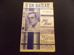 Partition D Un Bateau Fox Sérénade Tino Rossi - Music & Instruments