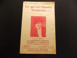 Partition Valse Comique Ce Qu On Chante Toujours Monty Vagabonds Parisiens Nobad Nobadienne - Music & Instruments